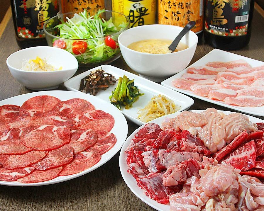 格安宴会!焼肉全10品 コース飲み放題120分付4,000円(税込)